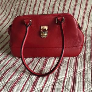 Calvin Klein Red Leather Satchel